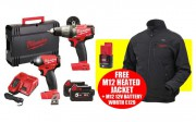 Milwaukee M18FPP2A-523X 18V Fuel Twinpack With 2 x 5.0Ah & 1 x 12V 2.0AH Li-Ion Batteries & Free Medium Heated Jacket £479.95