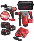 Milwaukee M18SET2U-503W M18 18V Fuel SDS+ & Combi Hammer Drill Twin Pack With 3 x 5.0Ah Li-Ion Batteries, charger & Case £669.95