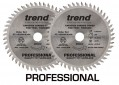 TREND FT/160X48X20A 2 x SAW BLADE FINE TRIM 160MMX48TX20MM (Twin Pack) £59.99 Trend Ft/160x48x20a 2 X Saw Blade Fine Trim 160mmx48tx20mm (twin Pack)