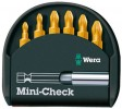 WERA MINI-CHECK 7PC TIN COATED BIT SET INCLUDING MAGNETIC BIT HOLDER £8.95 Wera Mini-check 7pc Tin Coated Bit Set Including Magnetic Bit Holder