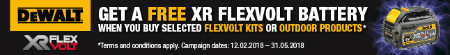 FREE XR FLEXVOLT Battery when you buy selected Flexvolt Kits - Click for details