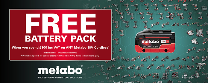 Metabo Free Battery Redemption Offer