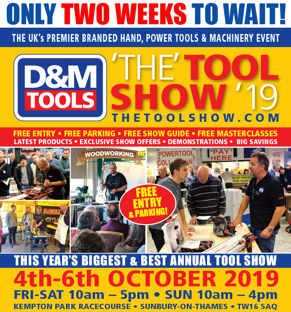 Only 2 weeks to wait - The Tool Show '19 - 4-6 October, Kempton Park Racecourse - Click for details