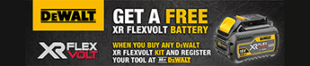 Get a FREE Flexvolt Battery with selected Kits and outdoor equipment