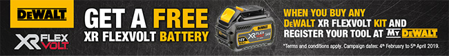 Get a FREE XR Flexvolt Battery when you buy this kit