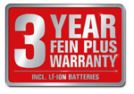FEIN PLUS WARRANTY