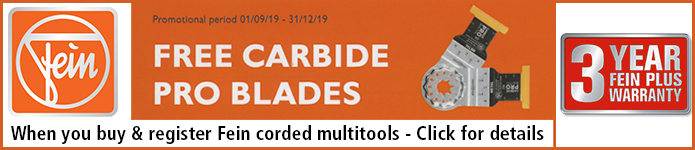 Fein FREE Carbide Pro Blades with corded multitools