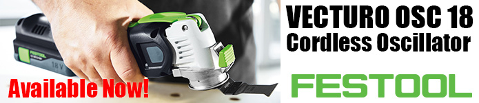 Festool Vecturo OSC 18 Cordless Oscillator - Available now