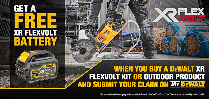 Get a FREE Flexvolt Battery - Click to redeem