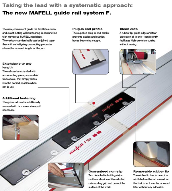 Mafell Guide Rails, Mafell Powertools, Featured Products by