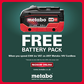 Metabo FREE Battery offer