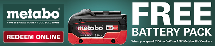 Metabo FREE Battery offer - click for details