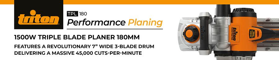 Triton TPL180 1500W Triple Blade Planer 180mm