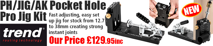 Trend Pocket Hole Pro Jig Kit - OUr price £129.95inc - click here