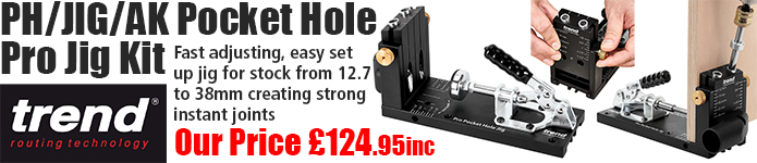 Trend Pocket Hole Pro Jig Kit - OUr price £124.95inc - click here