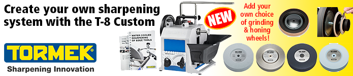 Create your own sharpening system with the new Tormek T-8 Custom - click here