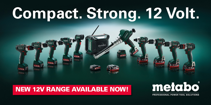 Metabo 12V Range, Metabo Powertools & Machinery, Featured