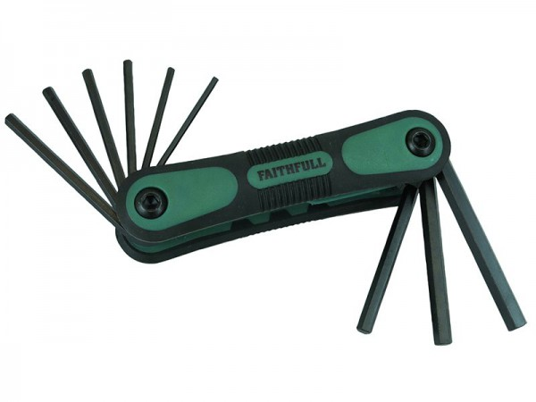 FAITHFULL FOLDING HEX KEY SET (9) A/F