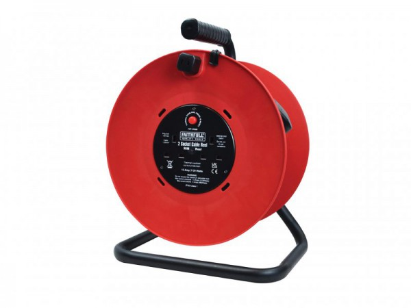 FAITHFULL CABLE REEL 50M 13A 240V