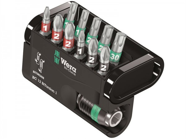 Wera Bit-Check 12 BiTorsion 1 Allround BiTorsion Set of 12 PZ PH TX