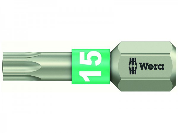 Wera 3867/1 TS Torx TX 15 Torsion Stainless Steel Bits  25mm