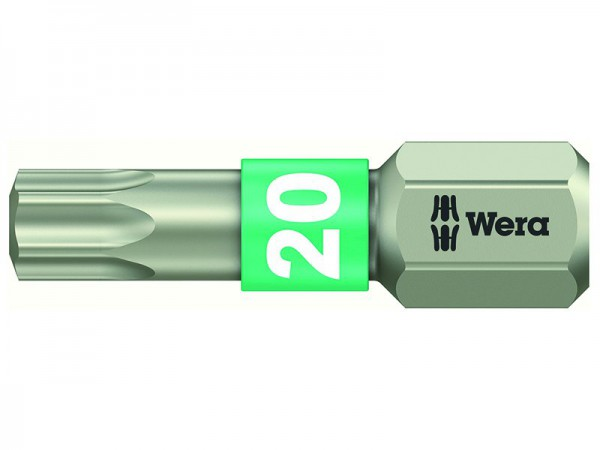 Wera 3867/1 TS Torx TX 20 Torsion Stainless Steel Bit  25mm