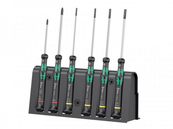 Wera Kraftform 2035/6 Micro Screwdriver Set - 4 Slotted 2 Phillips (PH0 PH1)