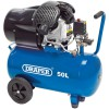 DRAPER 50L 230V 2.2kW Air Compressor £249.95 Features: Suitable For Workshop And Site Use, V - Twin - Cylinder Cast Iron Pump, Thermal Motor Protection Overload, On/off Pressure Switch, Pressure Regulator And Pressure Gauge, Two Quick Euro Coupl