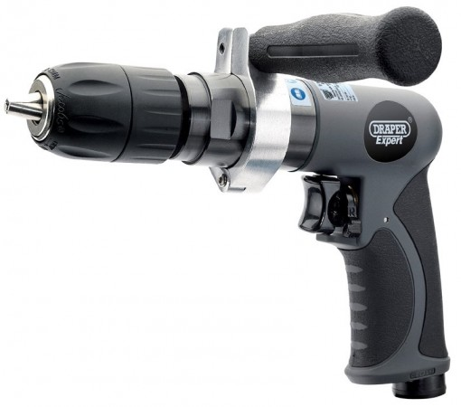 Draper Expert Composite Body Soft Grip Reversible Air Drill With 13mm Keyless Chuck