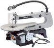 DRAPER 405mm 90W 230V Variable Speed Fretsaw with Flexible Drive Shaft and Worklight £139.95 Aluminium Table With Parallel Action Arm Design Which Allows Quick And Accurate Cuts. Incorporates A Worklight And Flexible Shaft Suitable For Use With Draper Multi-tool Accessories. The Dust Blower K