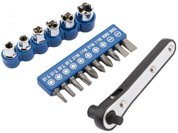 Draper 17 Piece Offset Ratchet Screw And Socket Driver Set