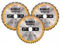 DEWALT Construction Circular Saw Blade 3 Pack 216 x 30mm  2 x 24T 1 x 40T £41.99 