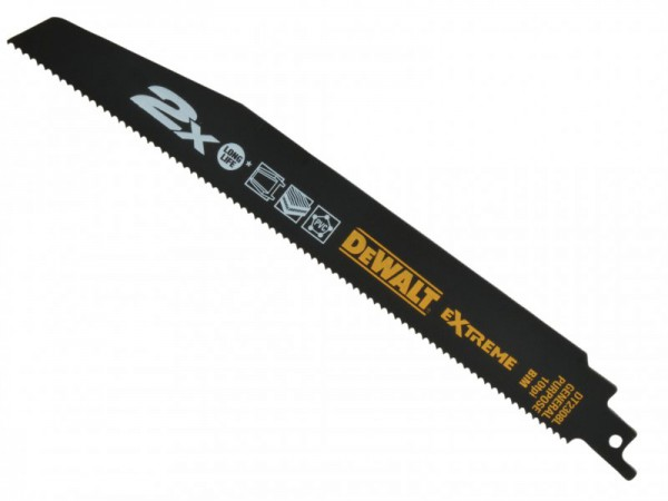 DEWALT 2X Life General Purpose Reciprocating Blades 228mm Pack of 5