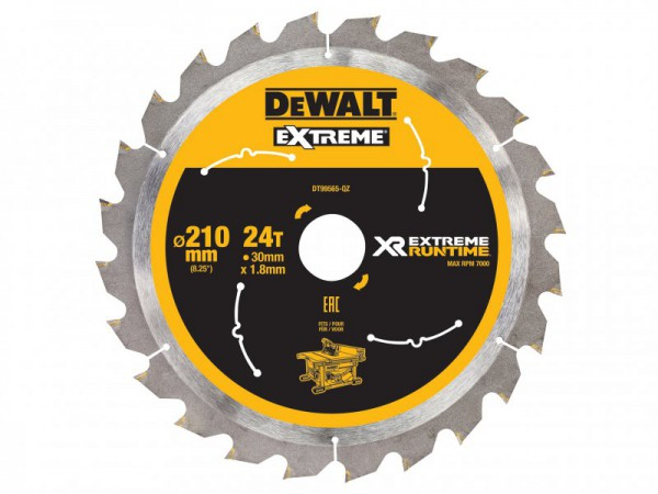 DEWALT FlexVolt XR Table Saw Blade 210mm x 30mm 24T