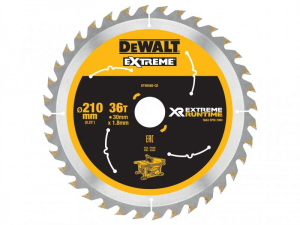 DEWALT FlexVolt XR Table Saw Blade 210mm x 30mm 36T