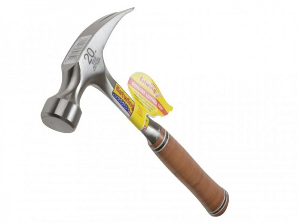Estwing E20s Straight Claw Hammer Leather Grip 20oz