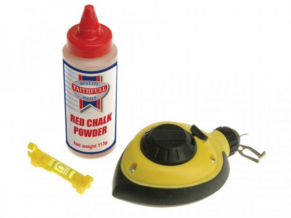 Faithfull Rapid Chalk Line & Chalk & Level