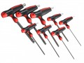 Faithfull T Handle Ball Ended Hex Key Set of 8 £26.65 The Faithfull T Handle Ball Ended Hex Keys Have Soft Grip T Handles And Strong Chrome Vanadium Steel Blades. They Have A Long Arm Ball End Key Design.  This Set Of 8 Contains The Following Sizes: 2, 2