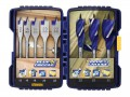 IRWIN® Blue Groove Auger & Flat Drill Bit Set, 8 Piece £29.99 This Irwin Blue Groove Drill Bit Set Contains A Selection Of Blue Groove 4x Flat Drill Bits And Blue Groove 6x Auger Drill Bits. All Bits Are Heat-treated For Maximum Durability. The Blue Groove Desig