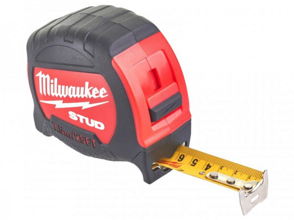Milwaukee Hand Tools STUD Tape Measure 7.5m/25ft (Width 27mm)