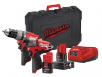 Milwaukee M12 CPP2C-422C Fuel Twin Pack 12 Volt 1 x 4.0Ah/1 x 2.0Ah Li-Ion was £319.95 £199.95