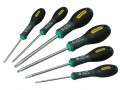 Stanley FatMax Tamperproof Torx Screwdriver Set of  6 £29.99 This Stanley Fatmax® 6 Piece Tamper-proof Torx Screwdriver Set, Comprises The Following:  1 X Ttx10 X 75mm. 1 X Ttx15 X 75mm. 1 X Ttx20 X 100mm. 1 X Ttx25 X 100mm. 1 X Ttx30 X 115mm. 1 X Ttx40 X 1