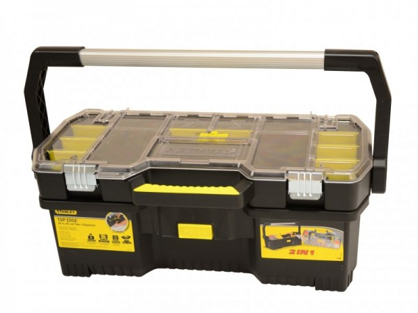 Stanley 197514 24-Inch Toolbox With Tote Tray Organiser