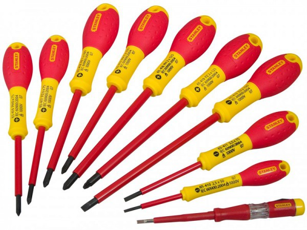 Stanley FatMax Screwdriver Set Insulated 10pce Par/Flared /Pozi