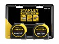Stanley Tools FatMax® Classic Tape Twin Pack 8m/26ft (Width 32mm) £25.99 The Stanley Tools Fatmax® Classic Tape Has A Mylar® Coated Steel Blade, With Both Metric And Imperial Graduations, And An Impressive Stand-out Of 3.35m.
