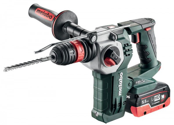 Metabo KHA 18 LTX BL 24 Quick SDS+ Hammer Drill with 1 x 4.0Ah LiHD, 1 x 5.5Ah LiHD, Charger and Case