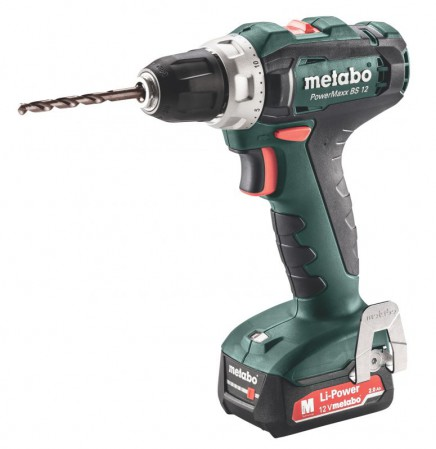 Metabo PowerMaxx BS 12 Drill/Driver 2 x 12V 2.0Ah, SC30 Charger, Carry Case