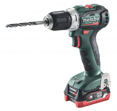 Metabo PowerMaxx BS 12 BL Brushless Drill/Driver 2 x 12V LiHD 4.0Ah, ASC 55 Charger, Carry Case