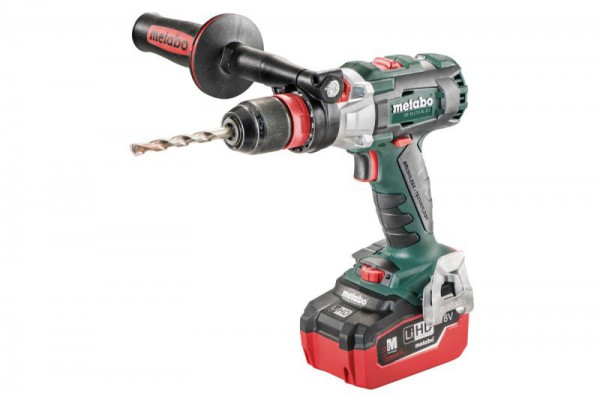 Metabo SB18LTX BLQI Brushless Combi/Drill, 2 x 18V LiHD 5.5Ah, ASC30 Charger, Carry Case