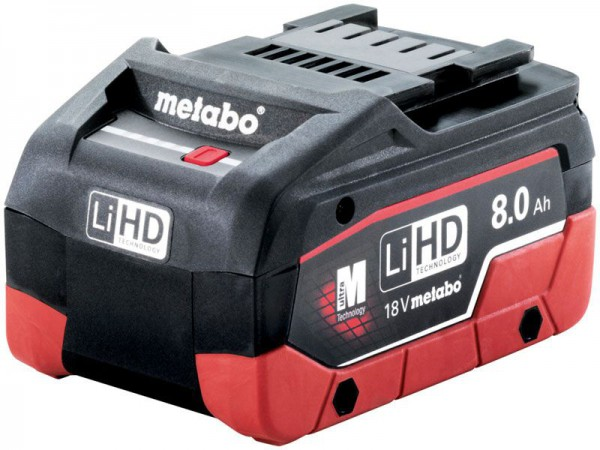 Metabo 18V 8.0Ah LiHD Battery Pack (Class 9 Delivery)